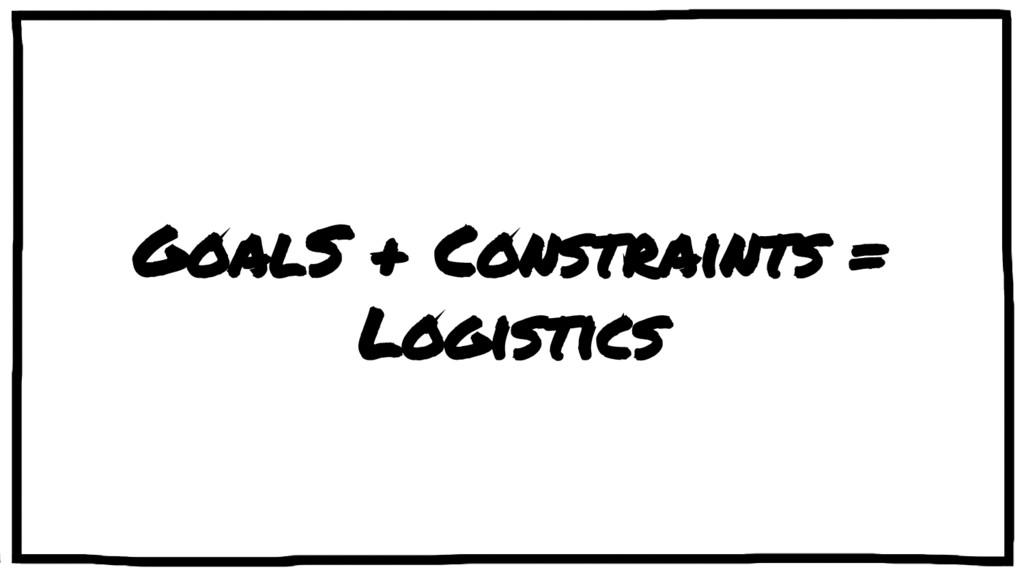 GoalS + Constraints = Logistics