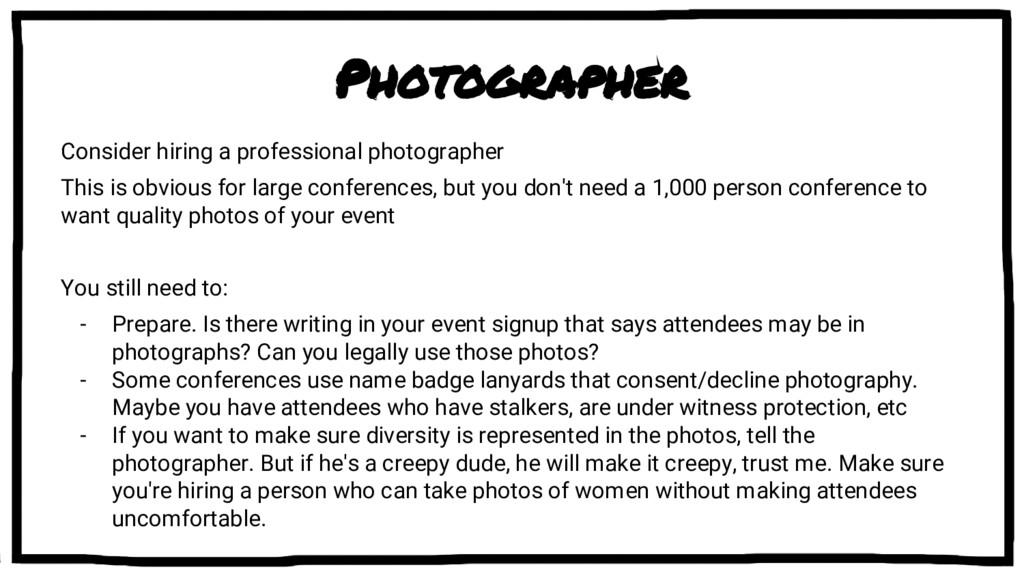 Photographer Consider hiring a professional pho...
