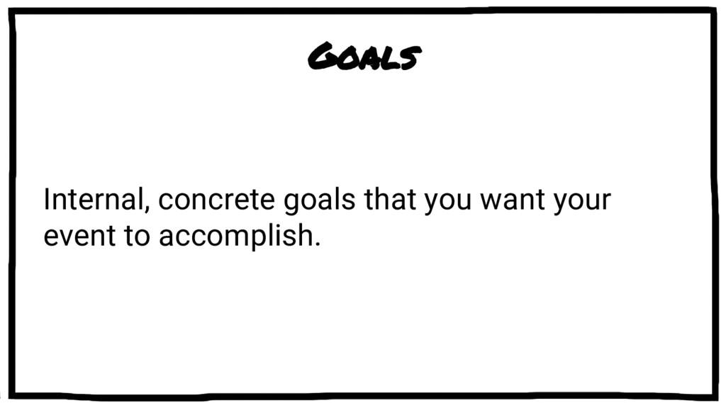 Goals Internal, concrete goals that you want yo...
