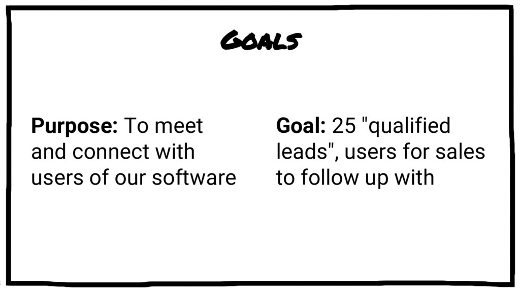 Goals Purpose: To meet and connect with users o...