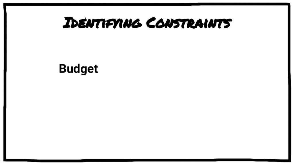 Identifying Constraints Budget