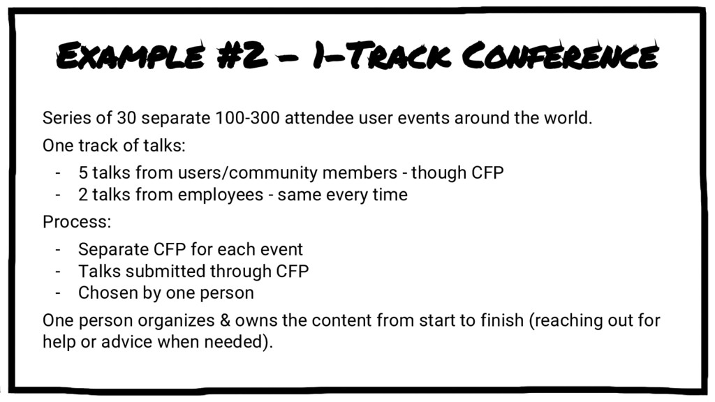 Example #2 - 1-Track Conference Series of 30 se...