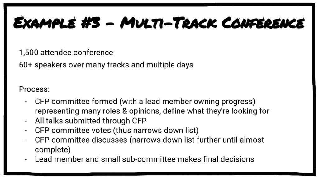 Example #3 - Multi-Track Conference 1,500 atten...