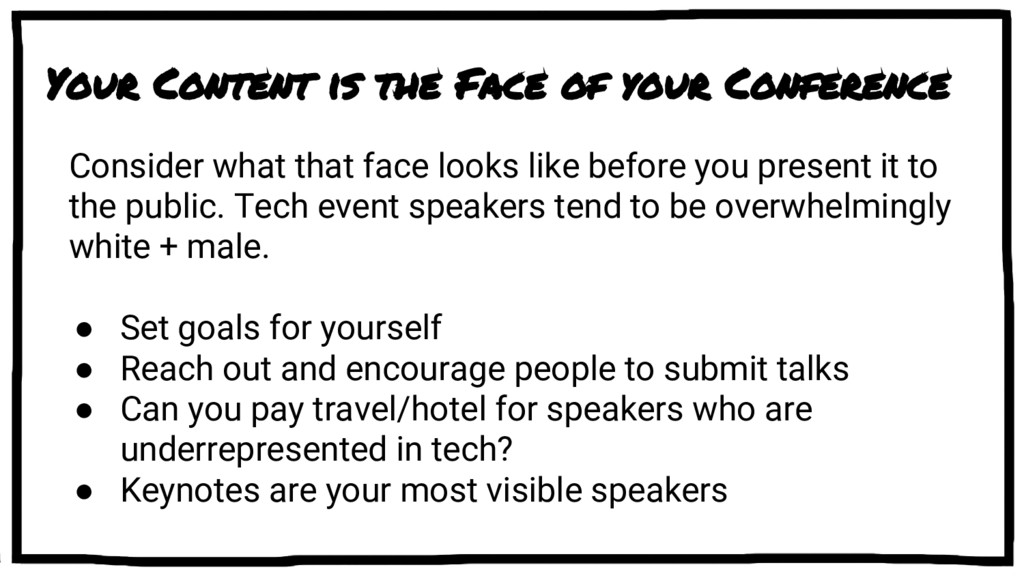 Your Content is the Face of your Conference Con...