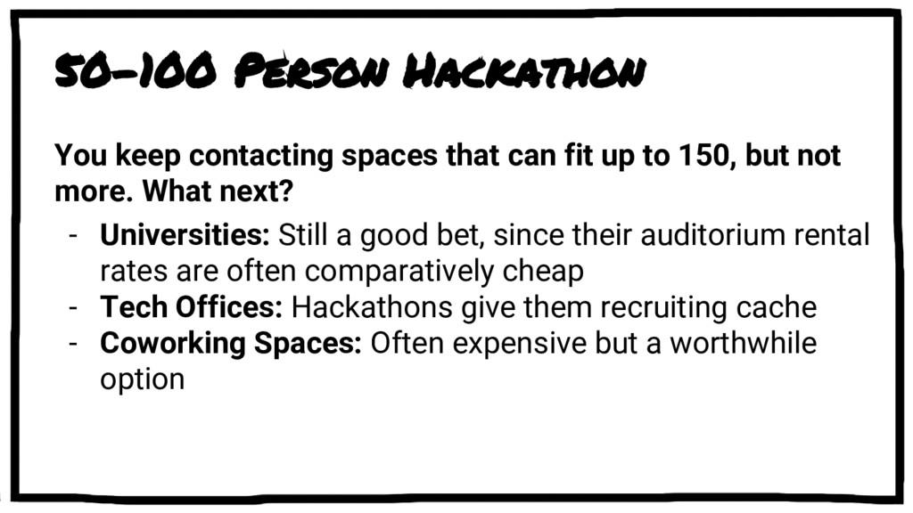 50-100 Person Hackathon You keep contacting spa...