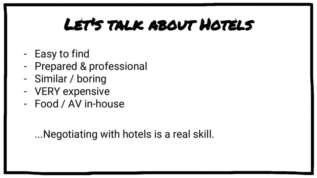 Let's talk about Hotels - Easy to find - Prepar...