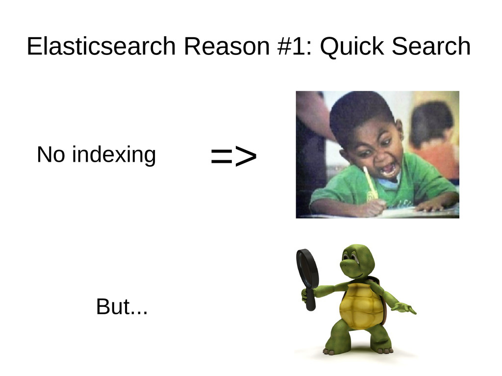 Elasticsearch Reason #1: Quick Search No indexi...
