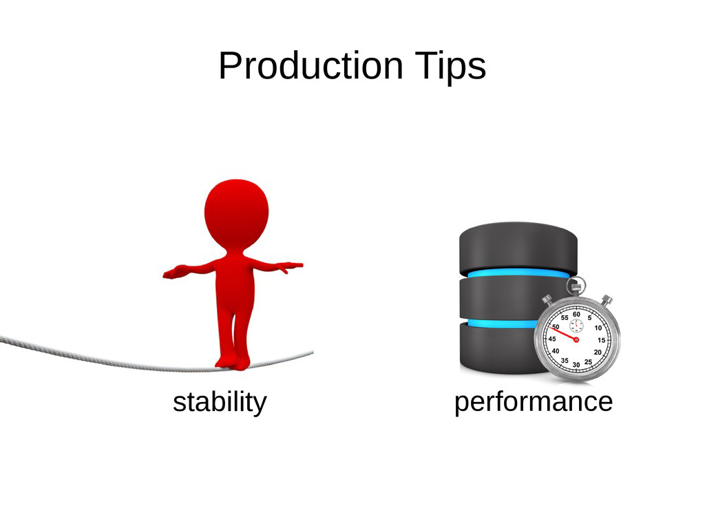 Production Tips stability performance