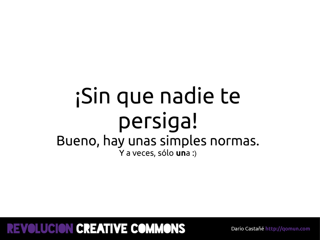 Dario Castañé http://qomun.com ¡Sin que nadie t...