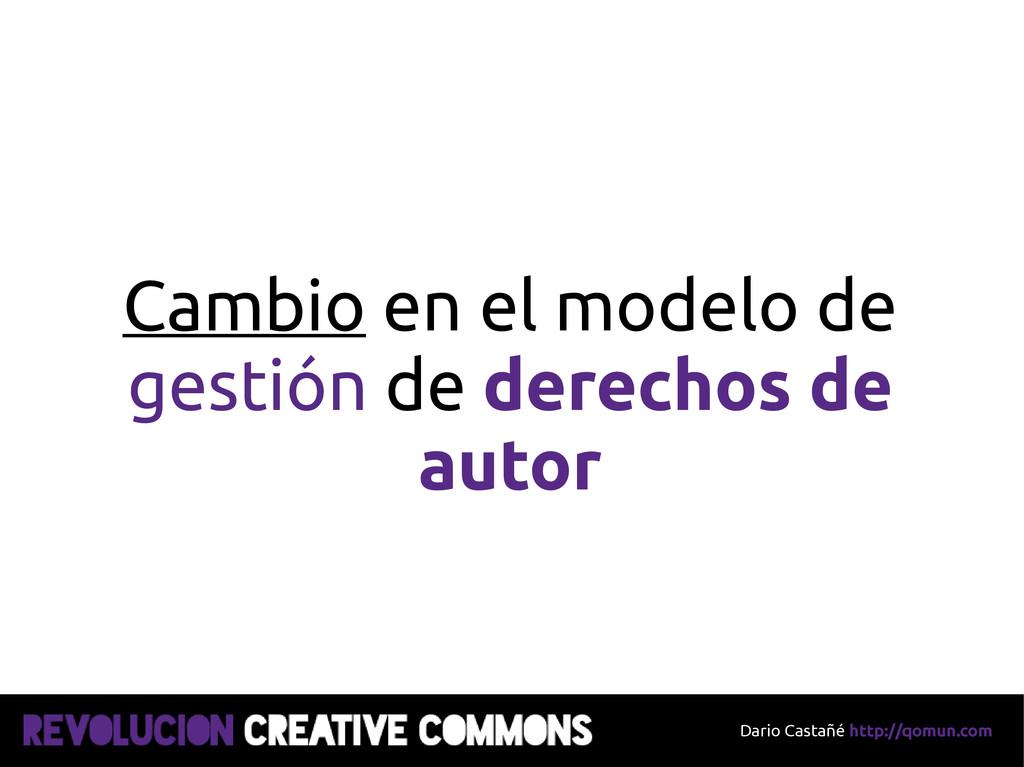 Dario Castañé http://qomun.com Cambio en el mod...