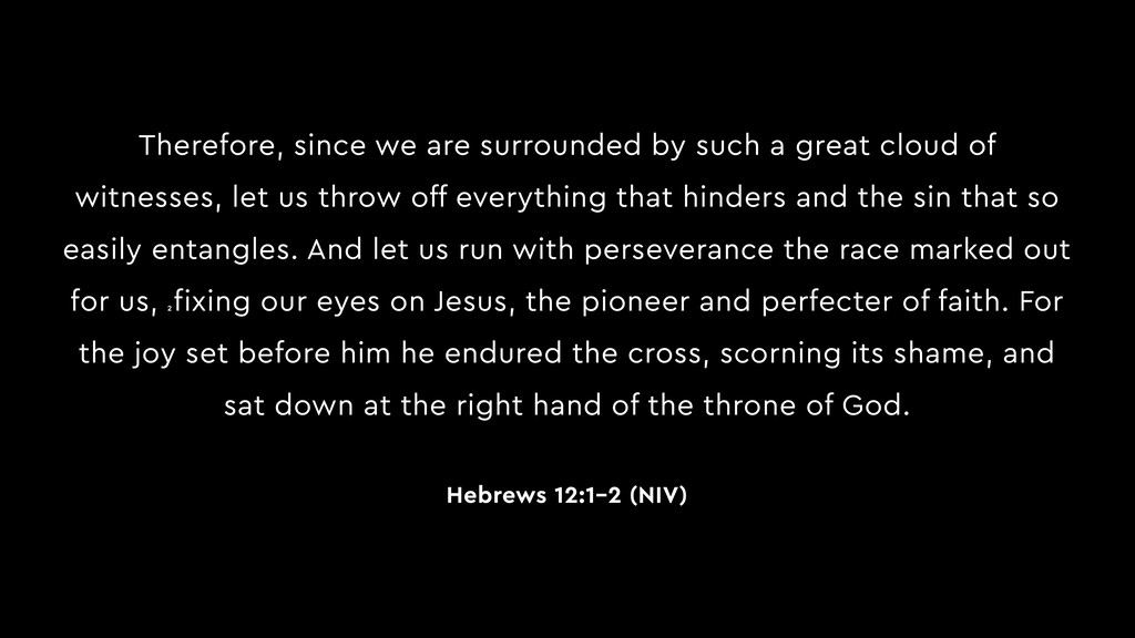 Therefore, since we are surrounded by such a gr...