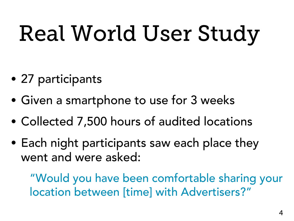 Real World User Study • 27 participants • Given...