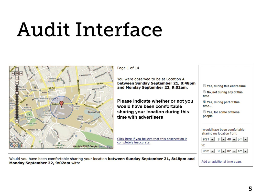 Audit Interface 5 Please indicate whether or no...
