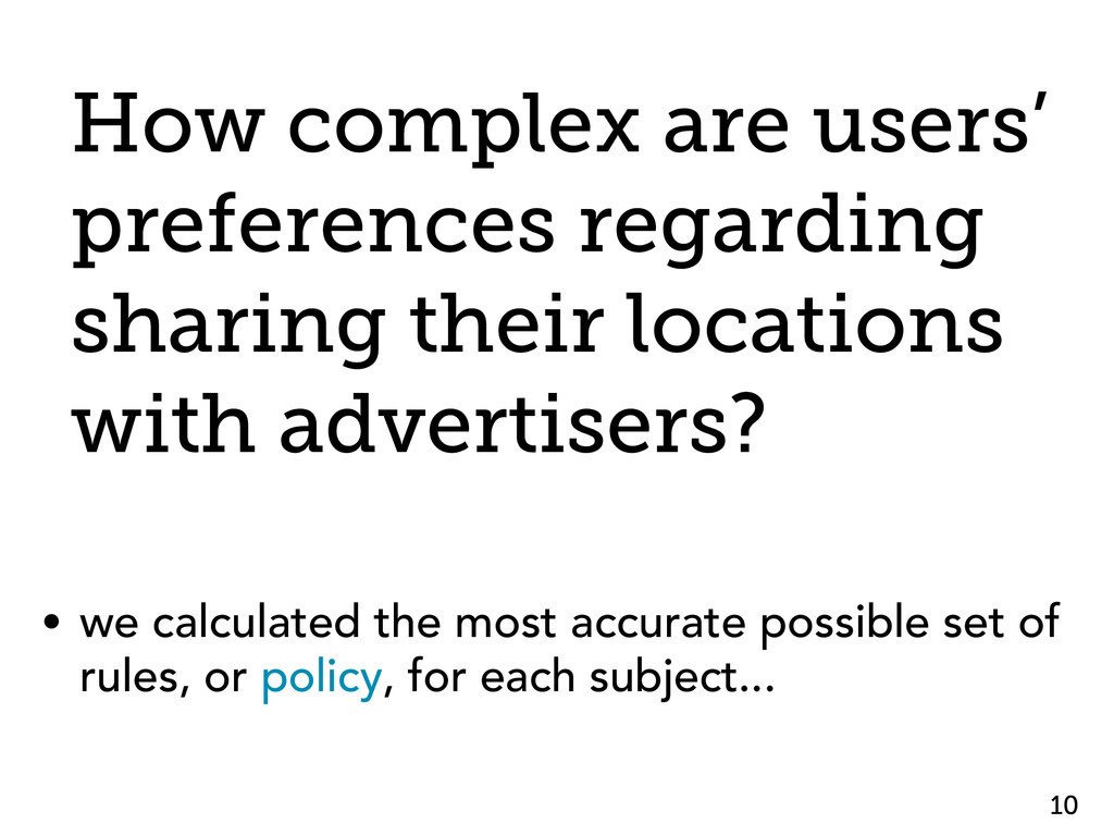 How complex are users' preferences regarding sh...