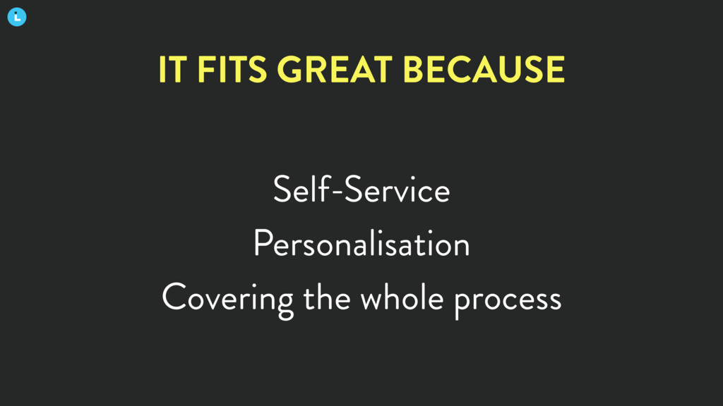 Self-Service Personalisation Covering the whole...