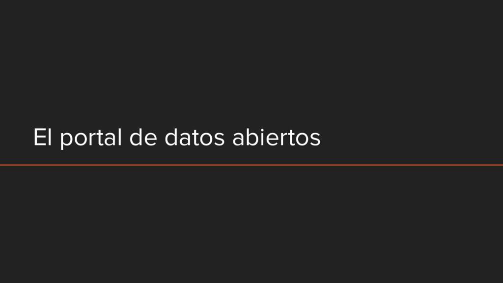 El portal de datos abiertos