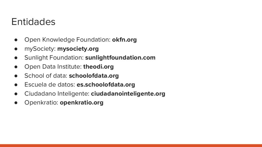 Entidades ● Open Knowledge Foundation: okfn.org...