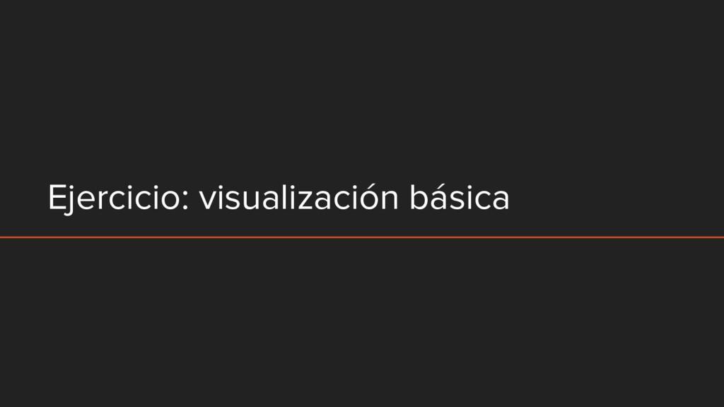 Ejercicio: visualización básica