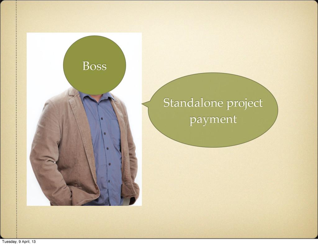 Standalone project payment Boss Tuesday, 9 Apri...