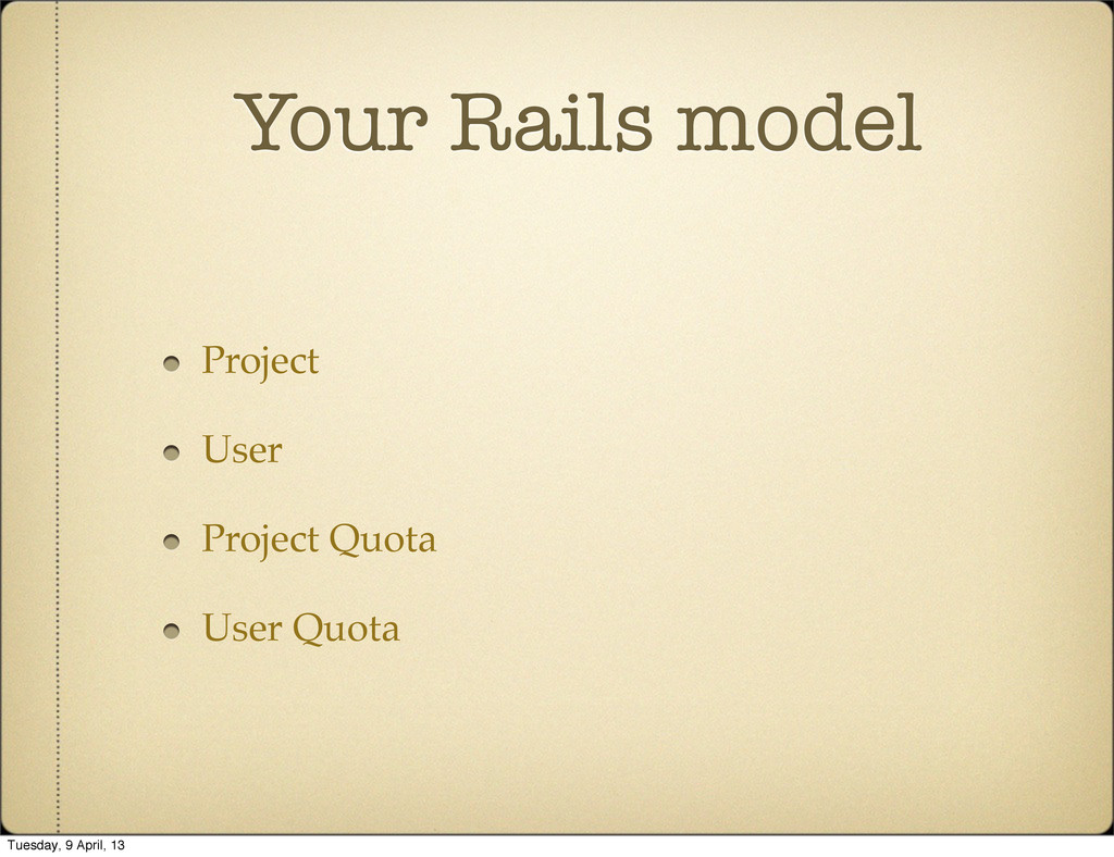 Your Rails model Project User Project Quota Use...