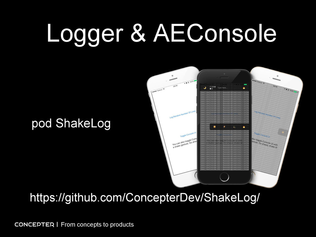 Logger & AEConsole From concepts to products ht...