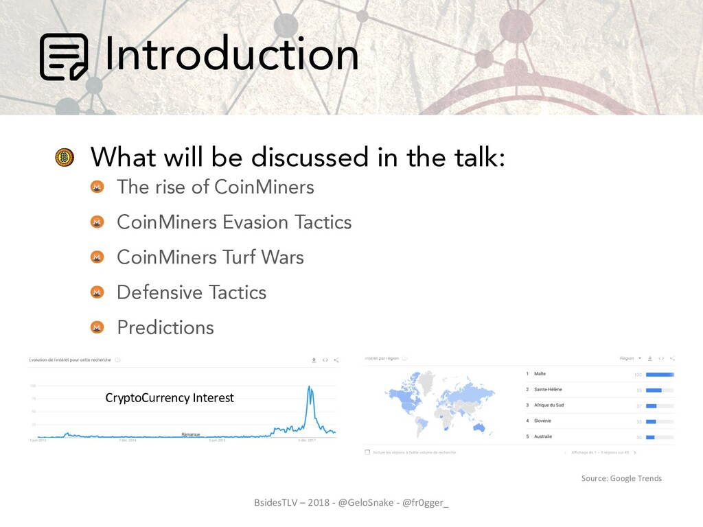 Introduction What will be discussed in the talk...