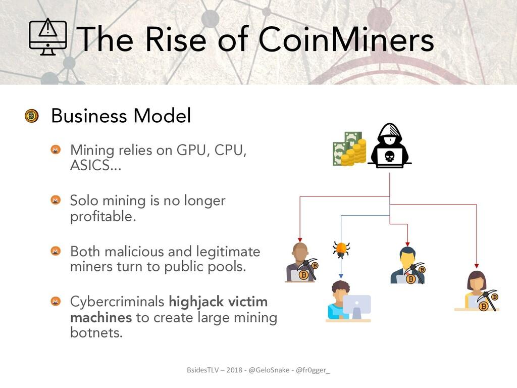 Business Model Mining relies on GPU, CPU, ASICS...