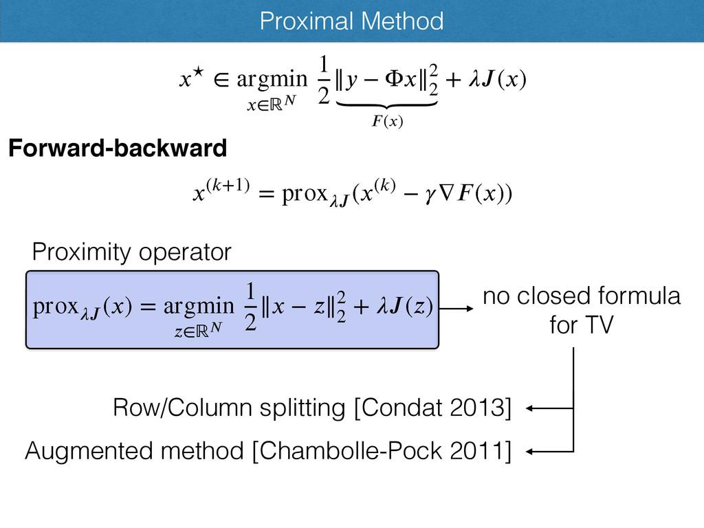 Proximal Method )ো,2* > qspy ౠ ))ো* ѿ ౘѴভ)*...