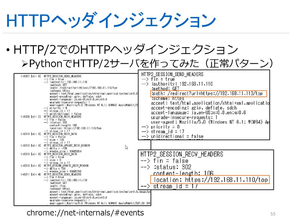 HTTPヘッダインジェクション • HTTP/2でのHTTPヘッダインジェクション Pyth...