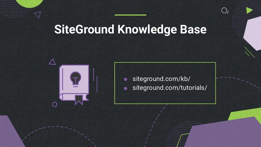 SiteGround Knowledge Base siteground.com/kb/ si...