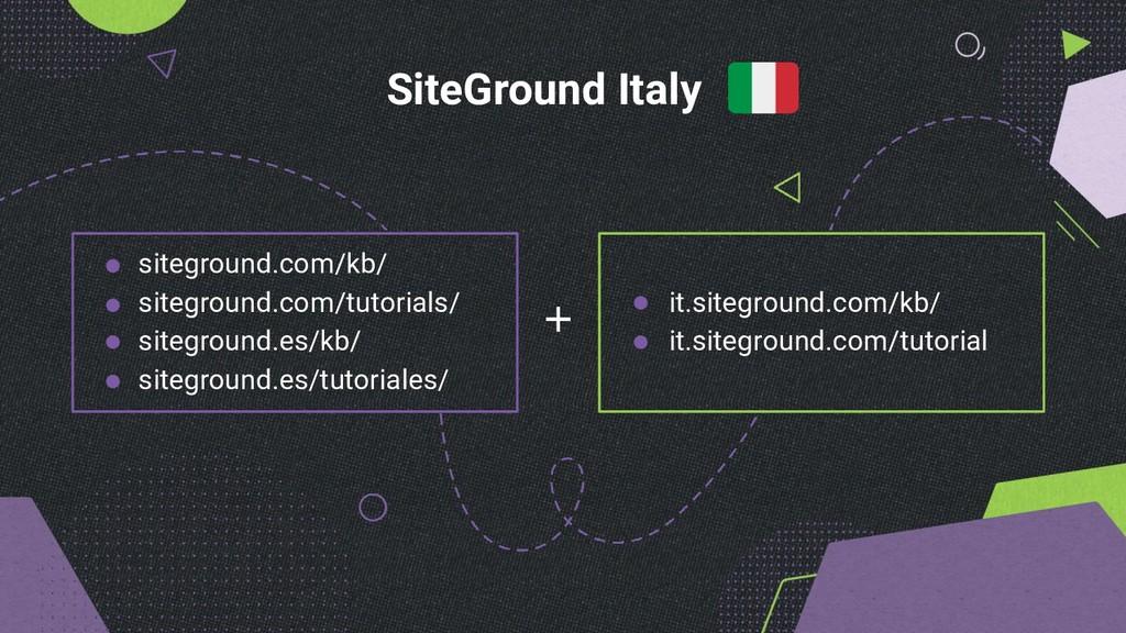 + SiteGround Italy siteground.com/kb/ sitegroun...