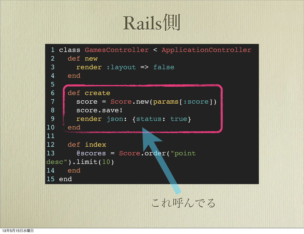 Railsଆ 1 class GamesController < ApplicationCon...