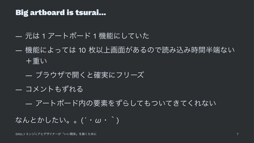 Big artboard is tsurai... — ݩ 1 ΞʔτϘʔυ 1 ػʹͯ͠...