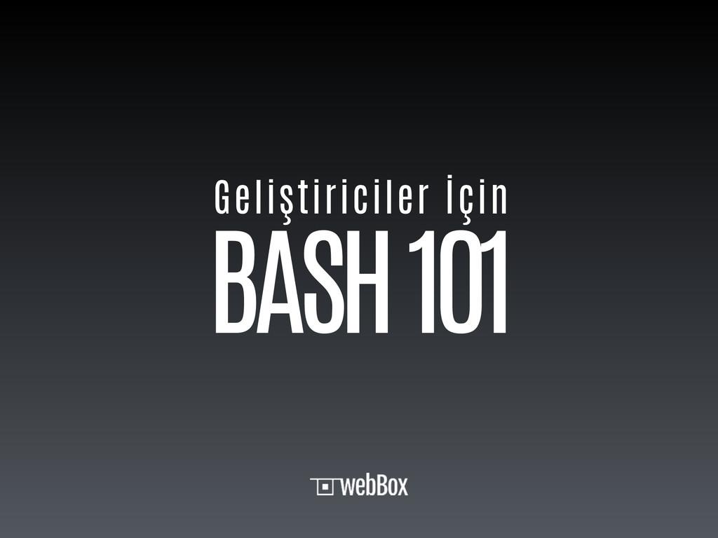 BASH 101 Geliştiriciler İçin