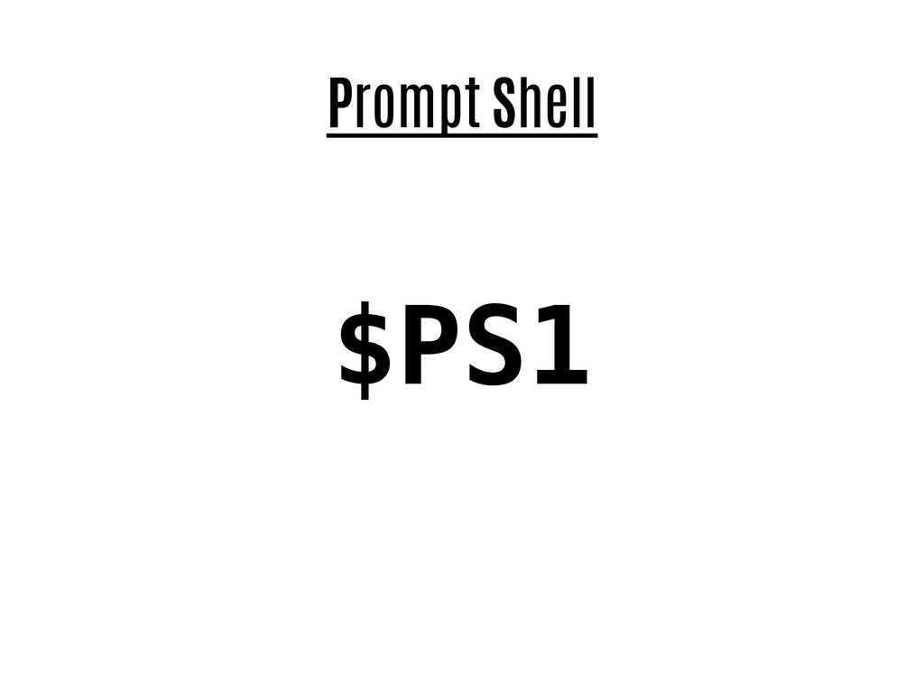 Prompt Shell $PS1