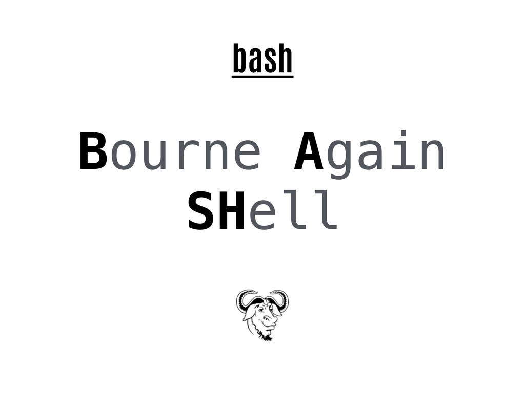bash Bourne Again SHell