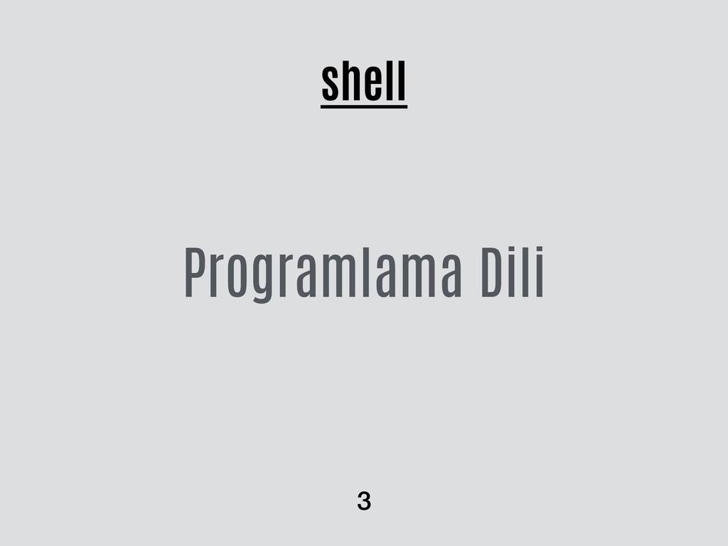 shell Programlama Dili 3