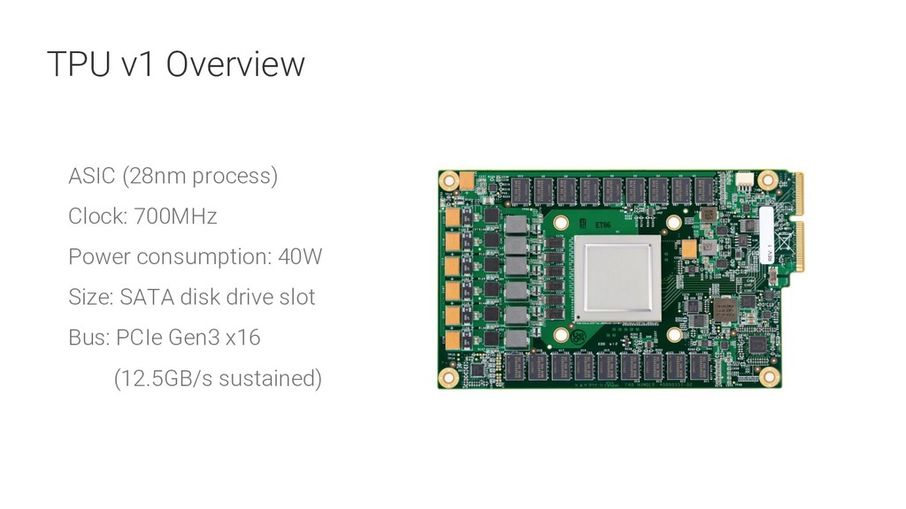 14 ASIC (28nm process) Clock: 700MHz Power cons...
