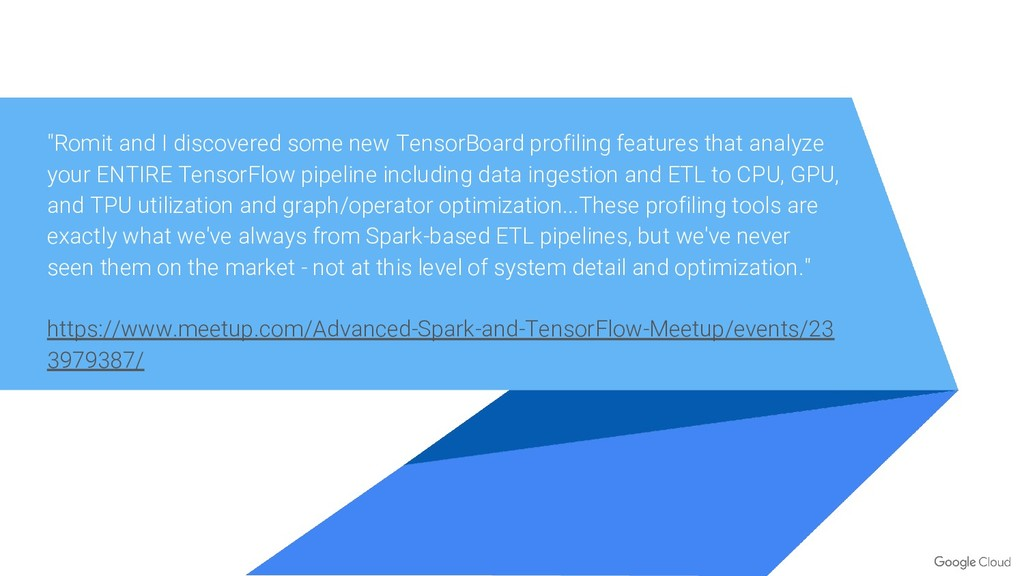 """""""Romit and I discovered some new TensorBoard pr..."""