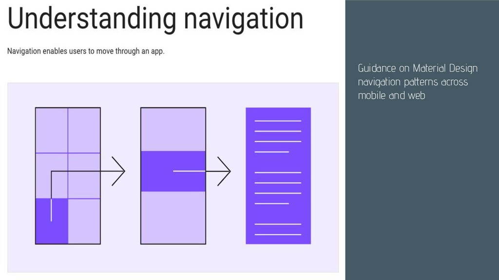 Guidance on Material Design navigation patterns...
