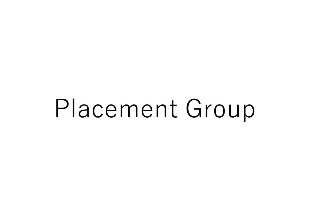 Placement Group