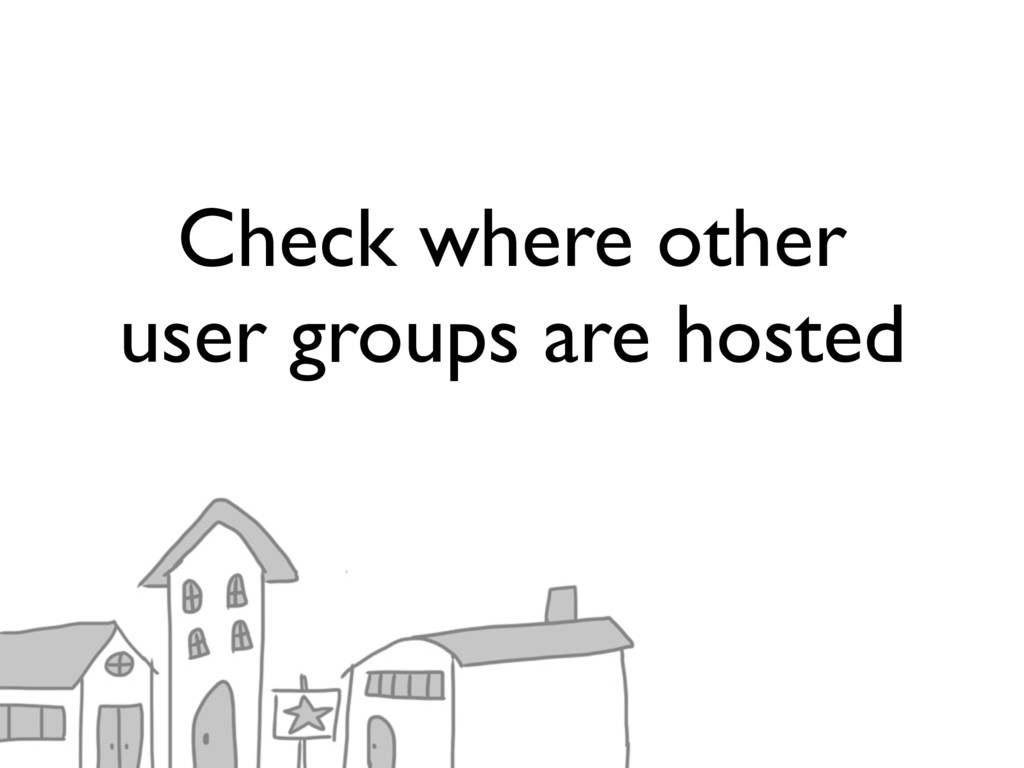 Check where other user groups are hosted