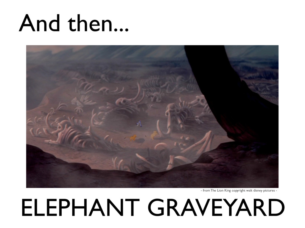 ELEPHANT GRAVEYARD And then... - from The Lion ...