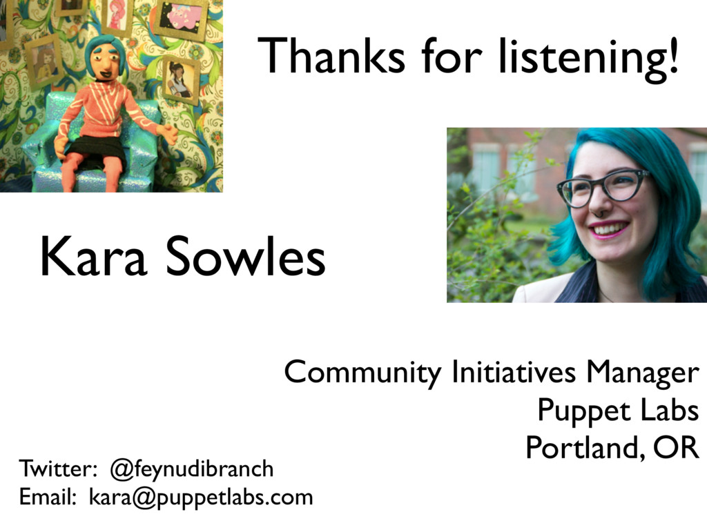 Kara Sowles Community Initiatives Manager Puppe...