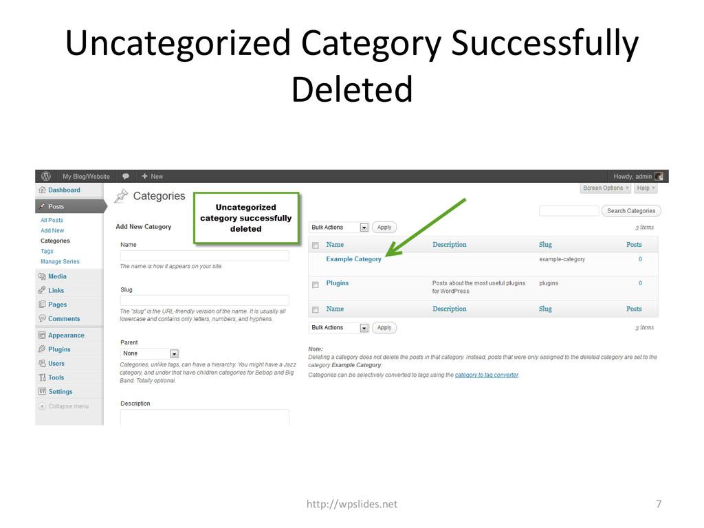 Uncategorized Category Successfully Deleted htt...