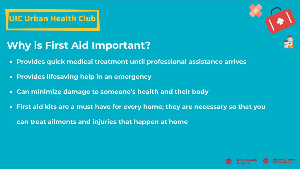 Why is First Aid Important? UIC Urban Health Cl...