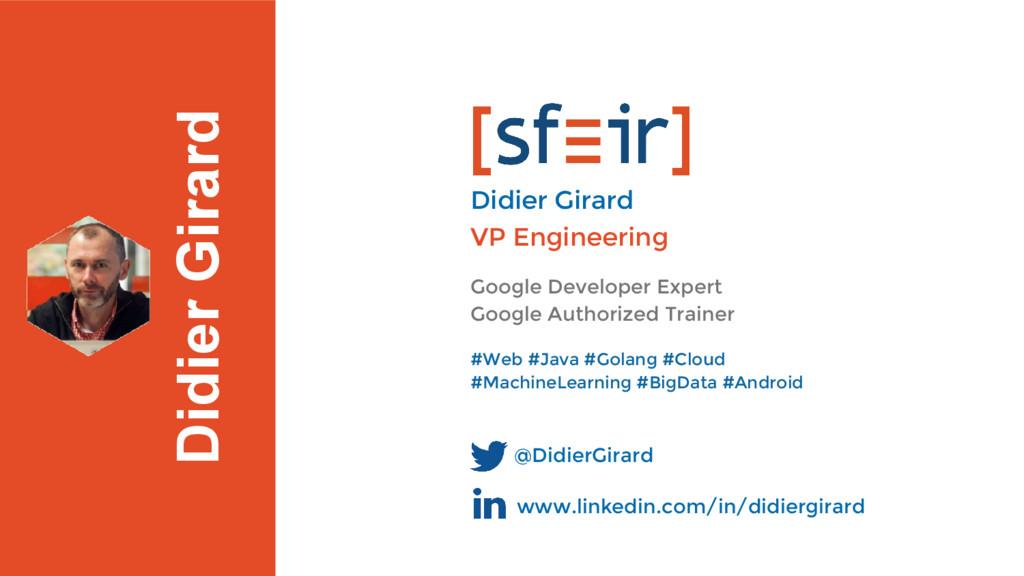 Didier Girard Google Developer Expert Google Au...
