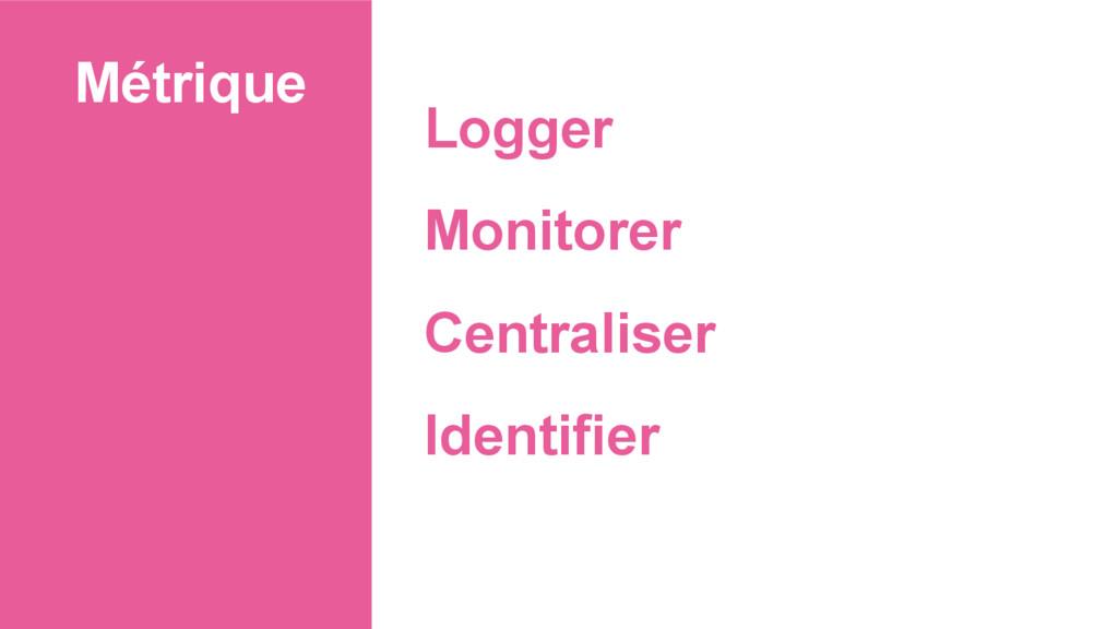 Métrique Logger Monitorer Centraliser Identifier