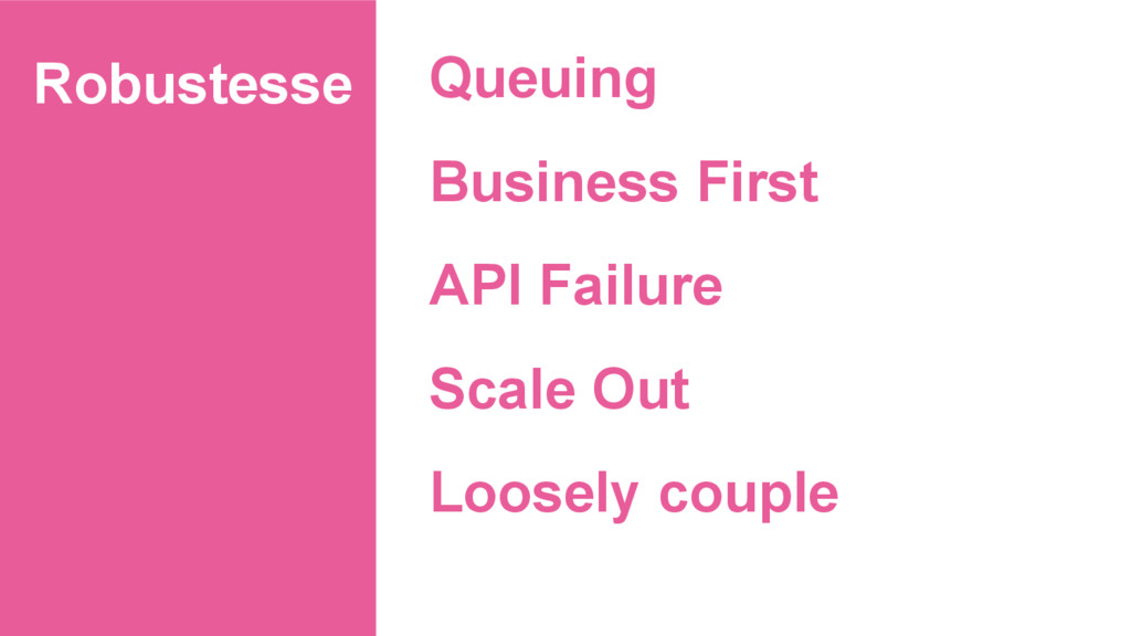 Robustesse Queuing Business First API Failure S...