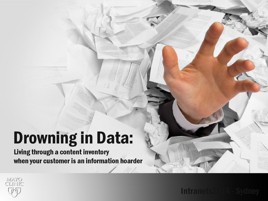 Drowning in Data: Living through a content inve...